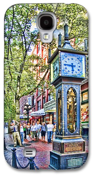 Vancouver Photographs Galaxy S4 Cases - Steam Clock in Vancouver Gastown Galaxy S4 Case by David Smith