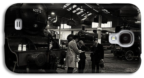 Historical Re-enactments Galaxy S4 Cases - Steam locomotive shed workers. Galaxy S4 Case by Mick Gosling
