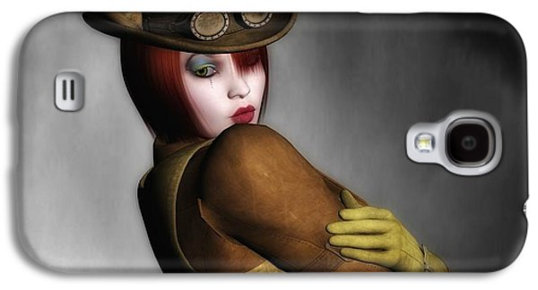 Mechanism Mixed Media Galaxy S4 Cases - Steam Punk Woman 2 Galaxy S4 Case by Todd and candice Dailey