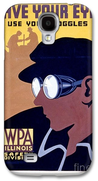 Punk Photographs Galaxy S4 Cases - Steam Punk WPA Vintage Safety Poster Galaxy S4 Case by Wpa