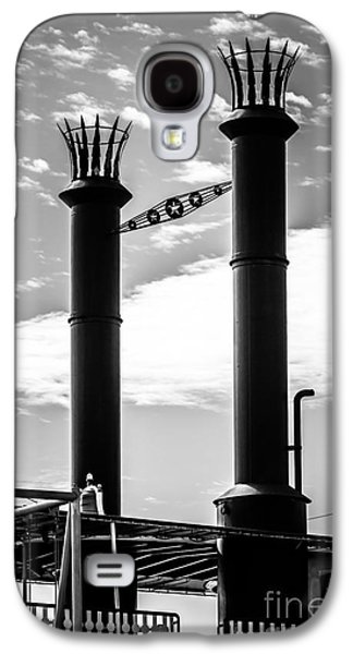 Steamboat Galaxy S4 Cases - Steamboat Smokestacks Black and White Picture Galaxy S4 Case by Paul Velgos
