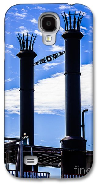 Steamboat Galaxy S4 Cases - Steamboat Smokestacks on the Natchez Steam Boat Galaxy S4 Case by Paul Velgos