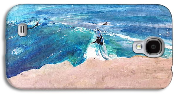 Steamer Lane Galaxy S4 Cases - Steamer Lane Galaxy S4 Case by Peter Forbes