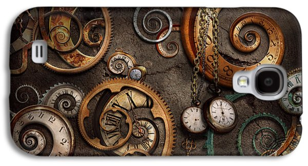 Metal Photographs Galaxy S4 Cases - Steampunk - Abstract - Time is complicated Galaxy S4 Case by Mike Savad
