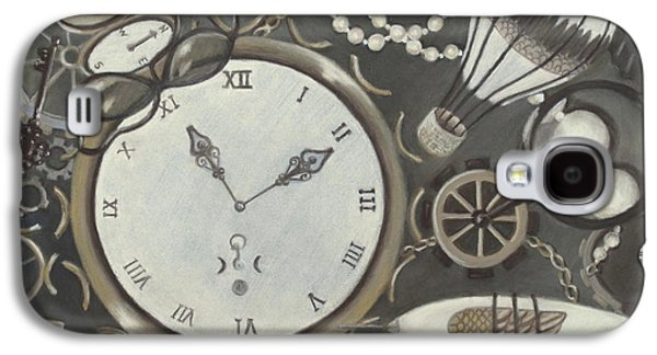 Industrial Pastels Galaxy S4 Cases - Steampunk Adventure Galaxy S4 Case by Pamela Poole