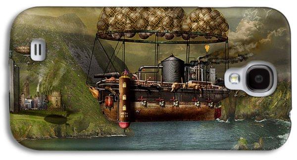 Fantasy Photographs Galaxy S4 Cases - Steampunk - Airship - The original Noahs Ark Galaxy S4 Case by Mike Savad
