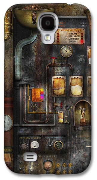 Personalize Galaxy S4 Cases - Steampunk - All that for a cup of coffee Galaxy S4 Case by Mike Savad