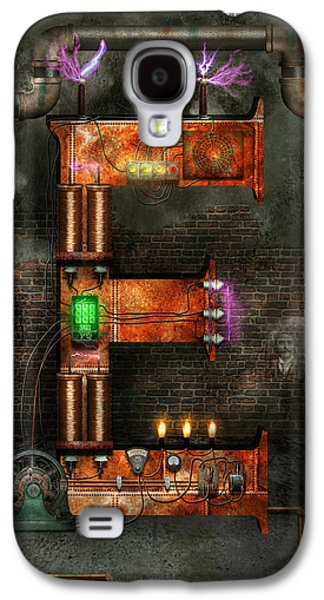 Suburban Digital Art Galaxy S4 Cases - Steampunk - Alphabet - E is for Electricity Galaxy S4 Case by Mike Savad
