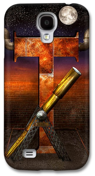 Self Discovery Galaxy S4 Cases - Steampunk - Alphabet - T is for Telescope Galaxy S4 Case by Mike Savad