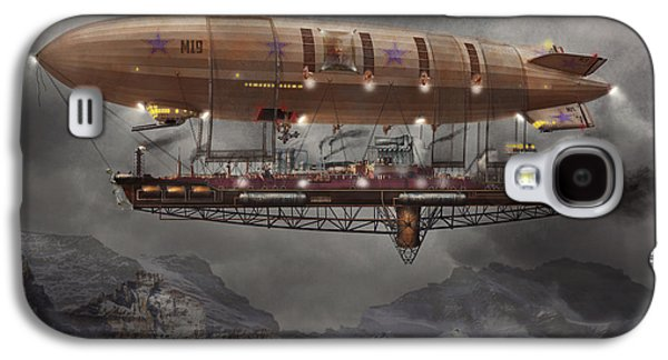 Savad Photographs Galaxy S4 Cases - Steampunk - Blimp - Airship Maximus  Galaxy S4 Case by Mike Savad