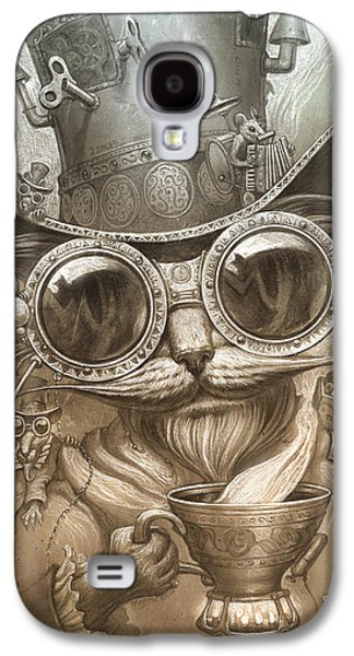 Steampunk Cat Galaxy S4 Case by Jeff Haynie