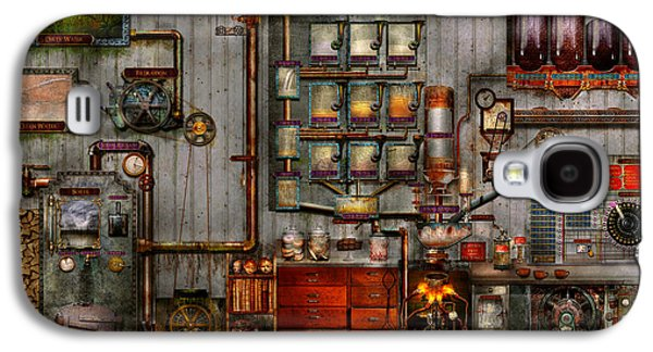 Suburban Digital Art Galaxy S4 Cases - Steampunk - Coffee - The company coffee maker Galaxy S4 Case by Mike Savad