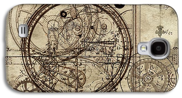 Gear Paintings Galaxy S4 Cases - Steampunk Dream Series III Galaxy S4 Case by James Christopher Hill