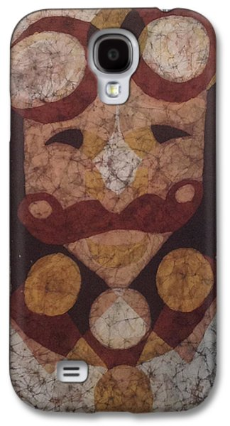 Abstract Tapestries - Textiles Galaxy S4 Cases - Steampunk Dude Galaxy S4 Case by Kevin Houchin