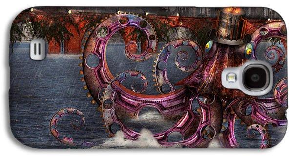 Suburban Digital Art Galaxy S4 Cases - Steampunk - Enteroctopus magnificus roboticus Galaxy S4 Case by Mike Savad