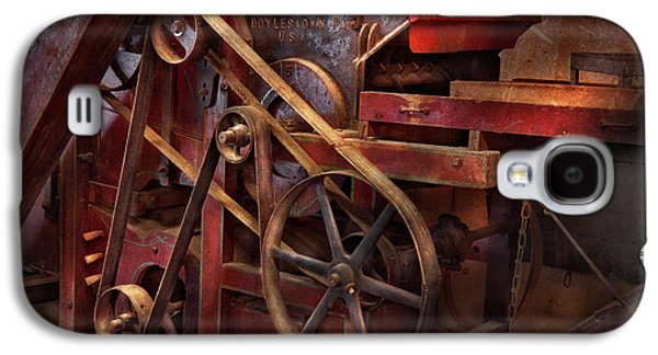 Steampunk - Galaxy S4 Cases - Steampunk - Gear - Belts and Wheels  Galaxy S4 Case by Mike Savad