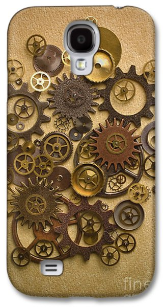 Machinery Photographs Galaxy S4 Cases - Steampunk Gears Galaxy S4 Case by Diane Diederich