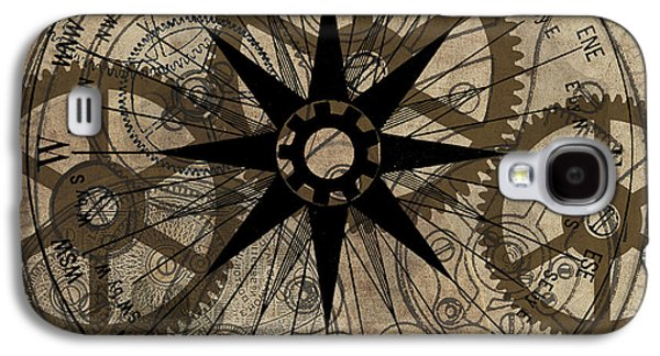 Gear Paintings Galaxy S4 Cases - Steampunk Gold Gears II  Galaxy S4 Case by James Christopher Hill