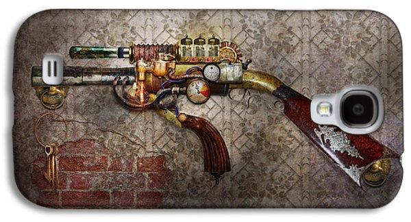 Steampunk - Galaxy S4 Cases - Steampunk - Gun - The sidearm Galaxy S4 Case by Mike Savad