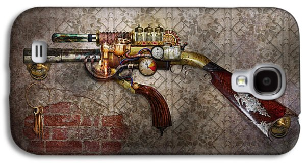 Best Friend Photographs Galaxy S4 Cases - Steampunk - Gun - The sidearm Galaxy S4 Case by Mike Savad