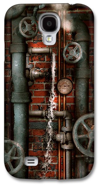 Suburban Digital Art Galaxy S4 Cases - Steampunk - Plumbing - Pipes and Valves Galaxy S4 Case by Mike Savad