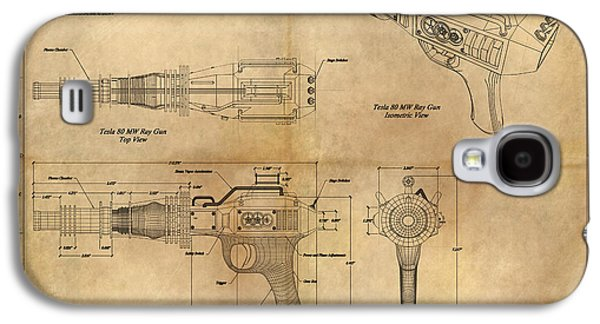 Columns Galaxy S4 Cases - Steampunk Raygun Galaxy S4 Case by James Christopher Hill