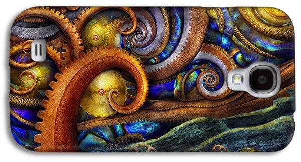 Fibonacci Galaxy S4 Cases - Steampunk - Starry night Galaxy S4 Case by Mike Savad