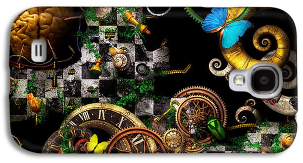 Suburban Digital Art Galaxy S4 Cases - Steampunk - Surreal - Mind games Galaxy S4 Case by Mike Savad