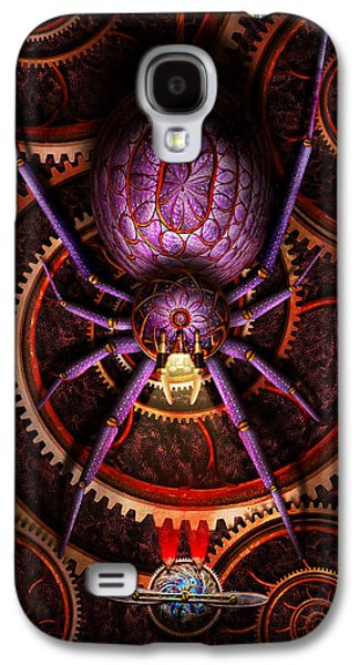 Macabre Digital Galaxy S4 Cases - Steampunk - The webs we weave Galaxy S4 Case by Mike Savad