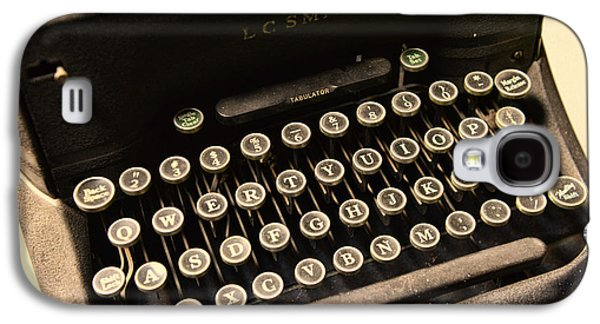 Typewriter Keys Photographs Galaxy S4 Cases - Steampunk - Typewriter - The Age of Industry Galaxy S4 Case by Paul Ward