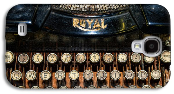 Typewriter Keys Photographs Galaxy S4 Cases - Steampunk - Typewriter -The Royal Galaxy S4 Case by Paul Ward