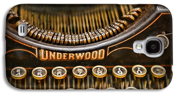 Typewriter Keys Photographs Galaxy S4 Cases - Steampunk - Typewriter - Underwood Galaxy S4 Case by Paul Ward