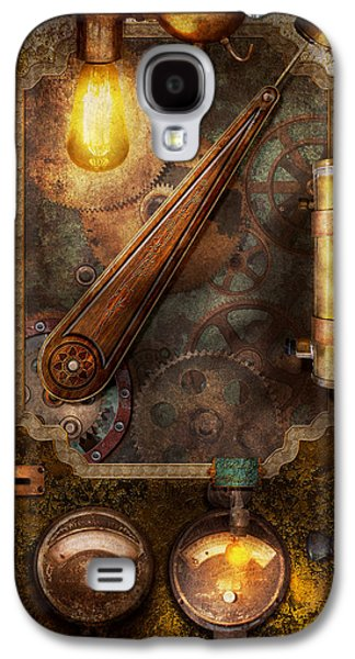 Mechanism Galaxy S4 Cases - Steampunk - Victorian fuse box Galaxy S4 Case by Mike Savad