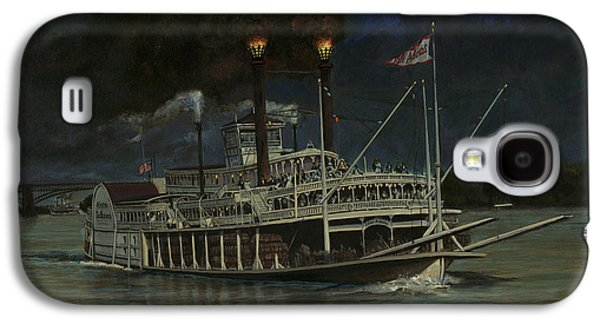 Steamboat Galaxy S4 Cases - Kate Adams Steamboat Night Galaxy S4 Case by Don  Langeneckert