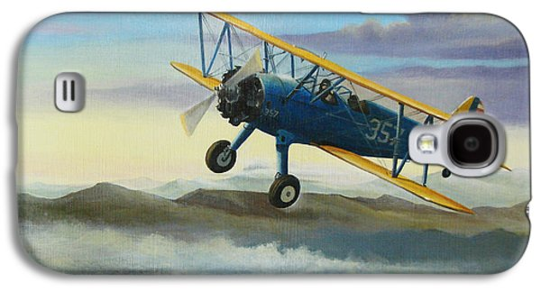 Flight Galaxy S4 Cases - Stearman Biplane Galaxy S4 Case by Stuart Swartz