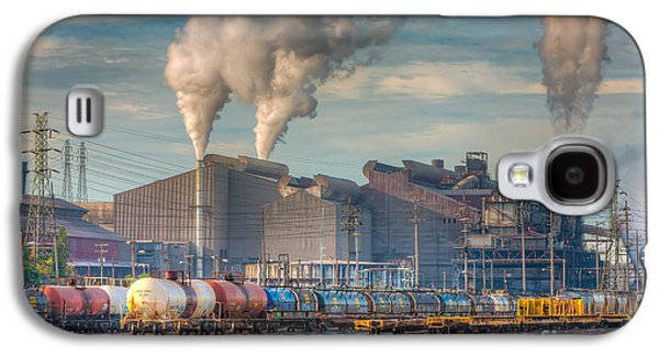 Enterprise Galaxy S4 Cases - Steel Mill and Freight Yard I Galaxy S4 Case by Clarence Holmes