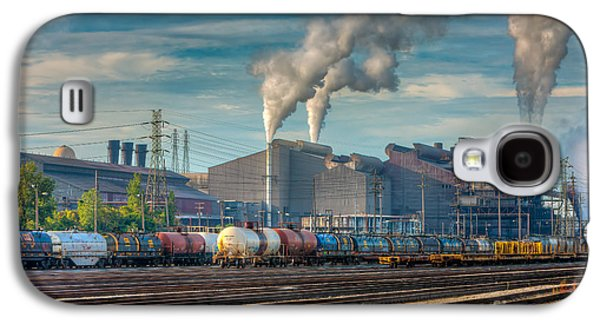 Enterprise Galaxy S4 Cases - Steel Mill and Freight Yard III Galaxy S4 Case by Clarence Holmes