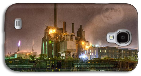 Chimneys Galaxy S4 Cases - Steel Mill at Night Galaxy S4 Case by Juli Scalzi