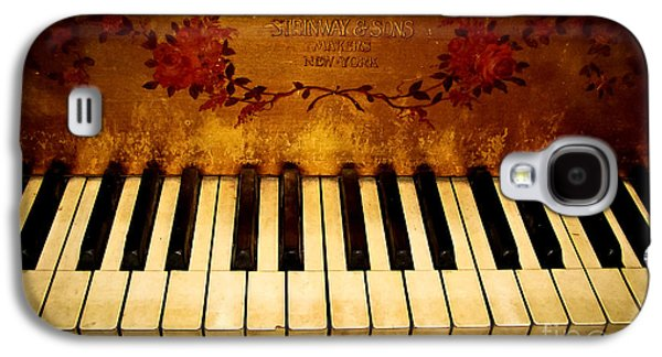 Original Photographs Galaxy S4 Cases - Steinway Golden Grand  Galaxy S4 Case by Colleen Kammerer