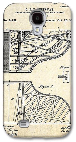 1880 Steinway Pianoforte Patent Art  Galaxy S4 Case by Gary Bodnar