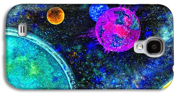 Intergalactic Space Galaxy S4 Cases - Stellar Flares Galaxy S4 Case by Bill Holkham