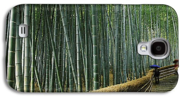 Bamboo Fence Galaxy S4 Cases - Stepped Walkway Passing Galaxy S4 Case by Panoramic Images