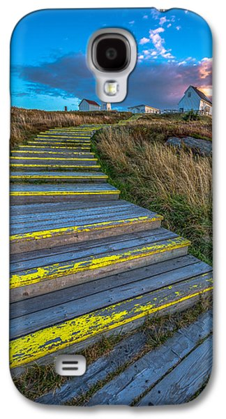 Lighthouse Galaxy S4 Cases - Steps to Cape Spear Galaxy S4 Case by Gord Follett