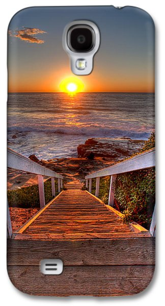 Beach Landscape Galaxy S4 Cases - Steps to the Sun  Galaxy S4 Case by Peter Tellone