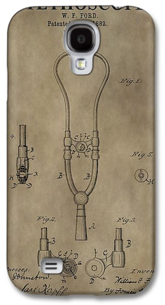 Blood Drawings Galaxy S4 Cases - Stethoscope Patent Galaxy S4 Case by Dan Sproul