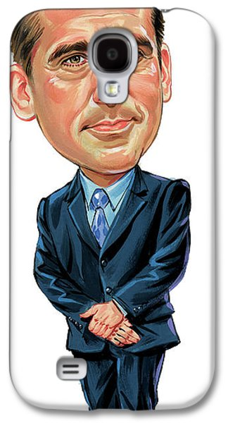 Inc Galaxy S4 Cases - Steve Carrell as Michael Scott Galaxy S4 Case by Art