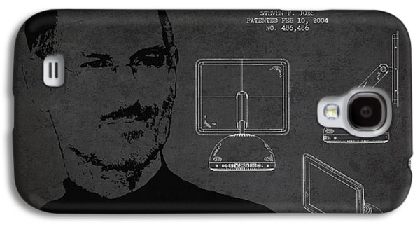 Inc Galaxy S4 Cases - Steve Jobs Imac  Patent - Dark Galaxy S4 Case by Aged Pixel