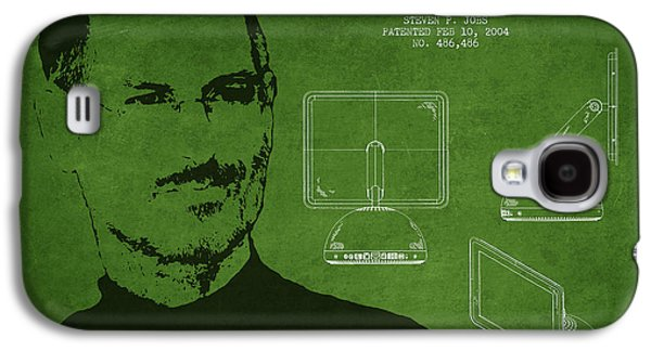 Inc Galaxy S4 Cases - Steve Jobs Imac  Patent - Green Galaxy S4 Case by Aged Pixel