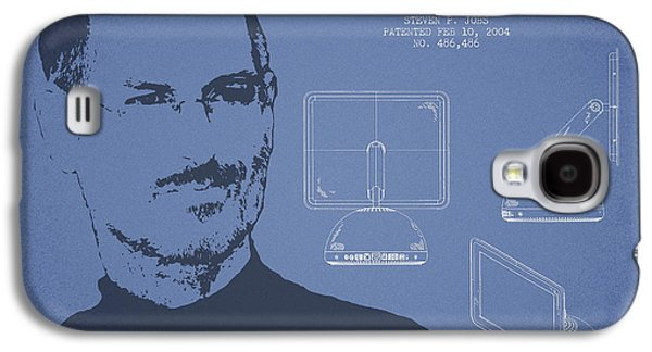 Inc Galaxy S4 Cases - Steve Jobs Imac  Patent - Light Blue Galaxy S4 Case by Aged Pixel