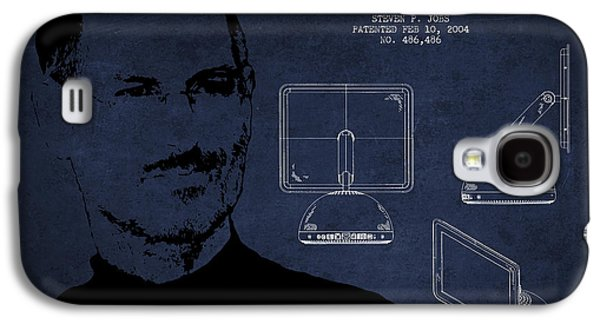 Inc Galaxy S4 Cases - Steve Jobs Imac  Patent - Navy Blue Galaxy S4 Case by Aged Pixel
